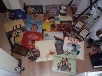 Found in loft 15 LPS 3 small records plus 30 cassettes