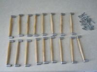 15x kitchen cupboard handles 128mm + 2 extra for spares