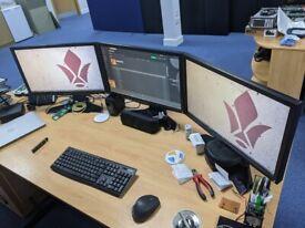 3 x Alienware AW2310 Gaming Monitors + Nvidia 3D vision Kit