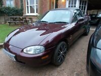 MX5 mx 5 mx-5 mk2 Limited Edition 'ICON' 2000(W). Lovely inside and out. Leather. Walnut. MOT SEPT.