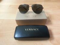 Genuine Versace unisex aviator sunglasses.