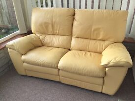 Leather Recliner Sofa and matching chair