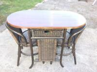 Old table and chairs