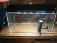 Fish Tank / Aquarium with hood, LED light and filter. 50 Litres