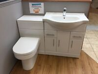 Basin unit with back to wall unit and pan