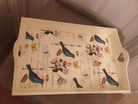 Bird motif cream tray