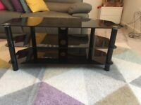Black, Glass TV Stand. Great Condition.