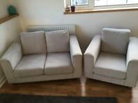 Sofa, armchair, footstool
