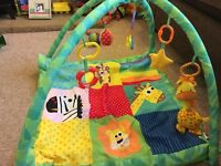 Baby's first play mat with lots of accessories