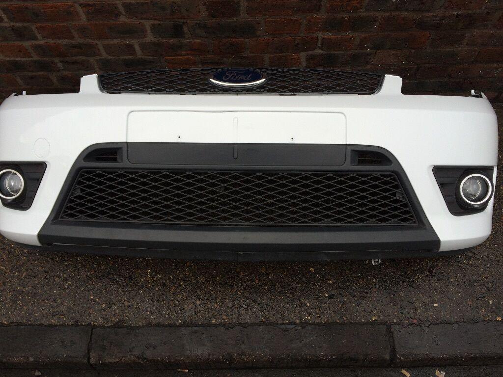 Ford Fiesta St Mk6 Parts >> Ford Fiesta ST / Zetec S FRONT BUMPER Frozen White (02 - 08) Breaking Spares mk6   in Stoke ...