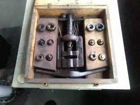 Vintage brake pipe flaring tool kit