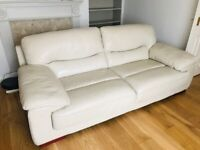3 Seater DFS leather sofa for sale
