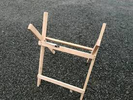 Brand New wooden saw horse for logs etc tractor