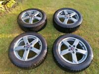 4 x Wolfrace Kodiak Grey (205/55/R16) inch Alloy wheels with all season tyres, hardly used