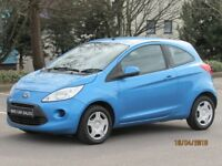 2010 FORD KA 1.2 STYLE NEW SHAPE NEW MOT £30 YEAR TAX LADY OWNER FROM NEW