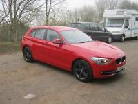 BMW 1 Series 116D SPORT 2014 (red) 2014