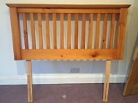 Double headboard (Shaker style), solid wood, Excellent condition, with fixings.