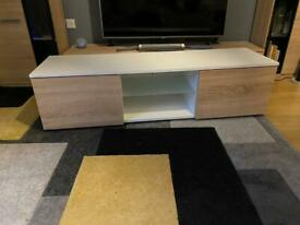 TV stand with shelve and cupboards