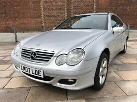 2007 MERCEDES C CLASS COUPE AUTOMATIC / ONLY 70000 MILES