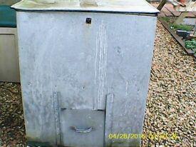 Galvanised Coal Bunker