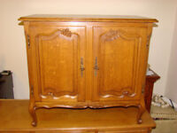 French Rustic oak furniture small storage living dining room sideboard