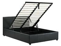 Super king bed frame ottoman style
