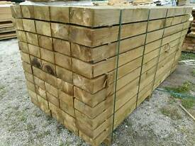 8x4 Tanalised Garden Sleepers (100mm x 200mm) 2.4mtr Lengths