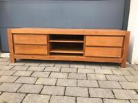 Solid Wooden TV Cabinet/Media Unit