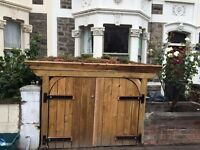 Bespoke Bike Shed or Firewood Store with living roof.
