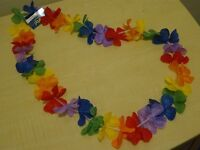 HAWAIIAN BEACH PARTY - FLOWER GARLAND - NEW WITH TAGS
