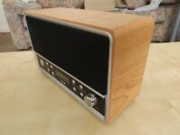 LOGIK DAB RADIO in High Gloss Black and Wood Finish