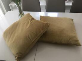 Two golden/yellow Laura Ashley cushions