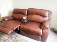 insignia sofology 3 seater & single power recliner-no marks very good condition!