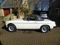 MGB Roadster 1980(W) 1978cc with Overdrive. One Previous Owner. Present owner for last 32 years,