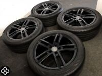 GENUINE AUDI A4 / A5 ALLOY WHEELS & TYRES (Fits VW) - 245/45/18 - 5 x 112