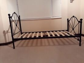 Metal Arched Bed Frame, Black. 2 identical to sell. Price is per item. Collect central Guildford