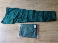 2 pairs of green combat type work trousers size 36 inch waist ( NEW )