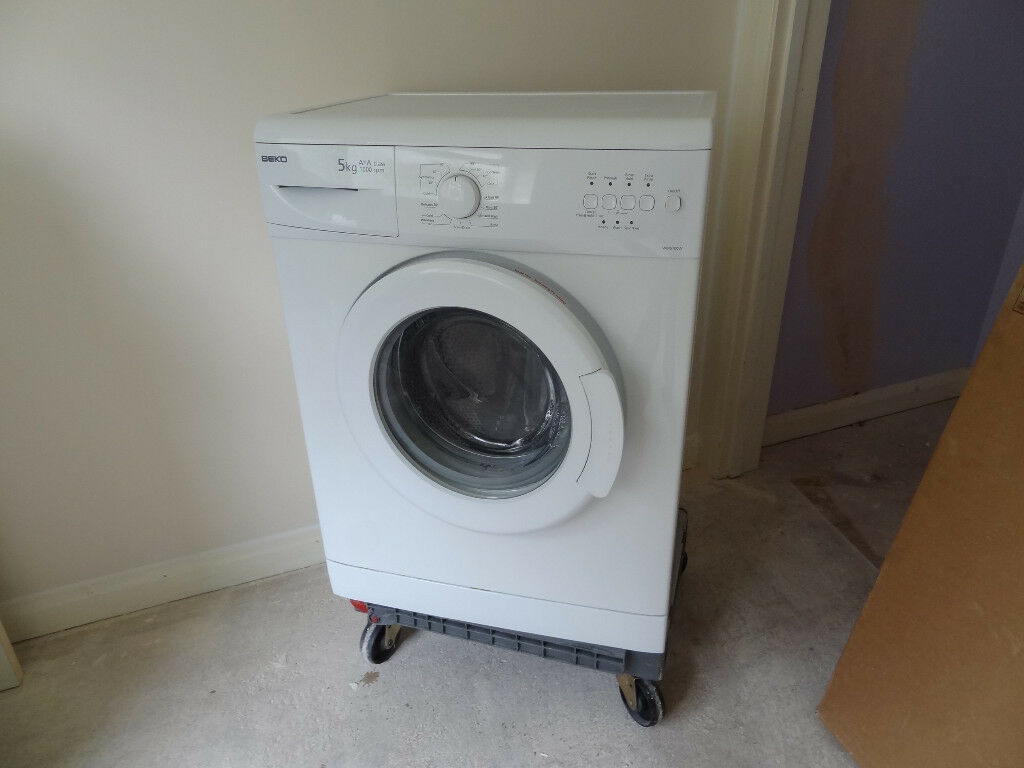 Beko WM5100W Washing Machine with 5KG Load, 1000rpm in White RRP £ 195.00