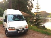 Camper/Van. Renault Master, long WB and extra high top with optional 4m Fiamma awning. NO VAT