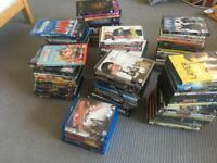 Just over 100 DVDs and Blu-Rays
