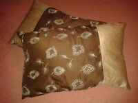 Pair of silk cushions