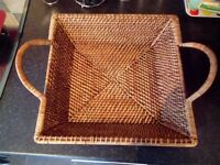 Pampered Chef Woven Selections rattan square server basket with handles. £20 collection Ahoghill