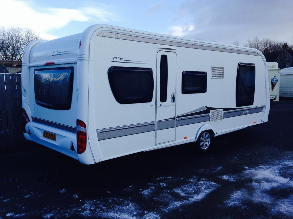 hobby 575 vip caravan 2010 reduced in burntisland. Black Bedroom Furniture Sets. Home Design Ideas