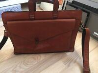 Royal Republiq cognac/tan Trace Assym briefcase great condition