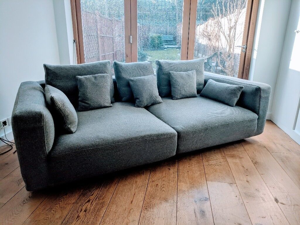 danish designer modular sofa 100 new zealand wool tweed excellent condition in maidenhead. Black Bedroom Furniture Sets. Home Design Ideas