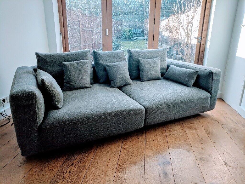 danish designer modular sofa 100 new zealand wool tweed excellent condition in maidenhead. Black Bedroom Furniture Sets. Home Design Ideas