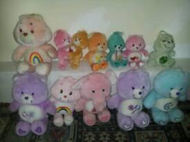 Bundle of 34 care bear teddies