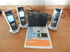 Siemens Gigaset SL565 Cordless phone with Bluetooth Triple Pack