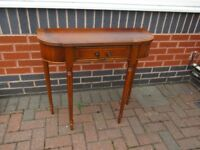 EXCELLENT QUALITY GEORGE F KNOWLES OF LIVERPOOL 1 X DRAWER HALL CONSOLE TABLE
