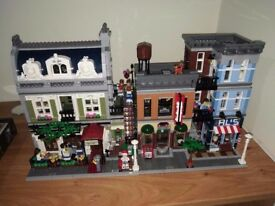 Lego Parisian Restaurant and Detective's Office Modular Buildings